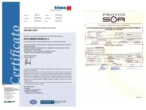 certificati, impresa edile