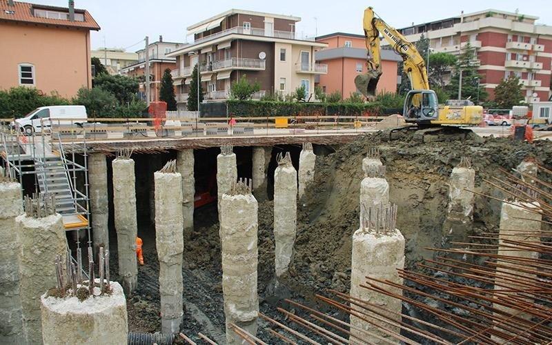 Opere di scavo Rimini
