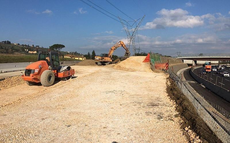 Costruzione tratto autostradale