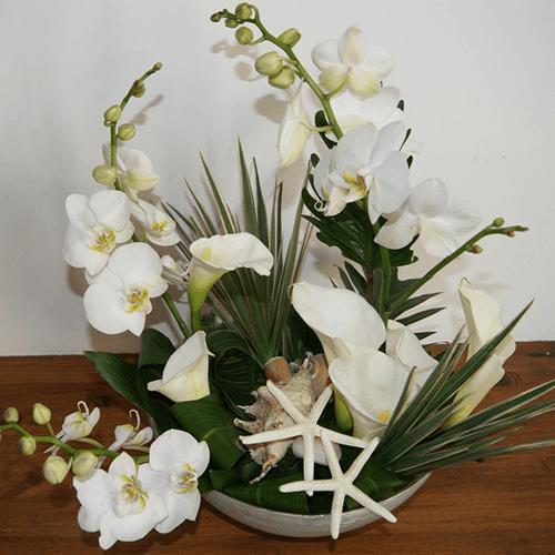 Composizione fiori per Yacht