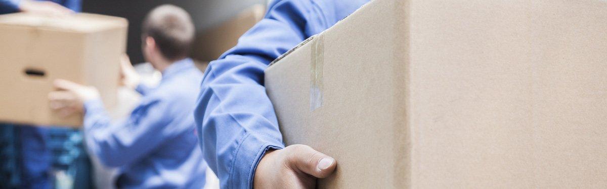J & J transport & removals man moving boxes