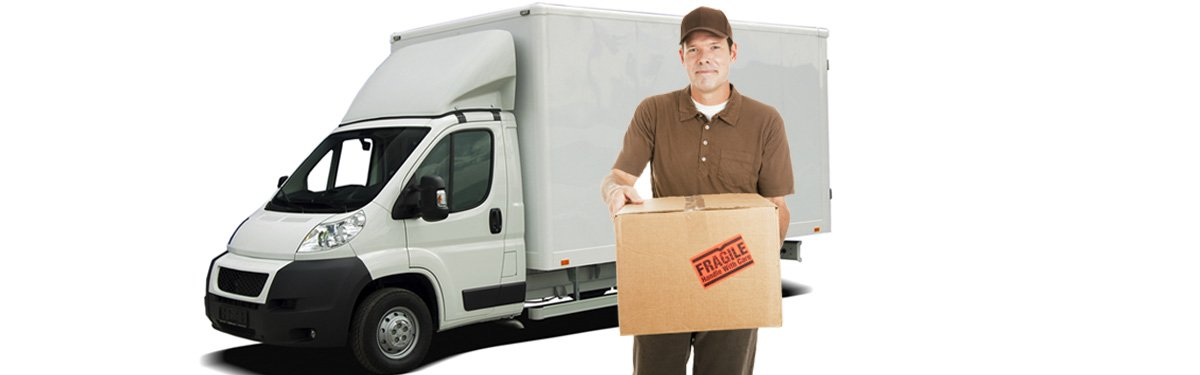 J & J transport & removals man holding box