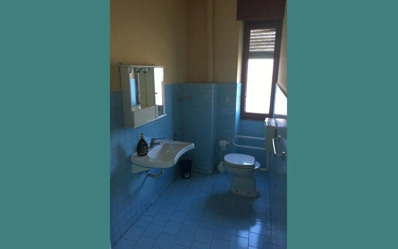 I bagni della casa di riposo Santa Rita