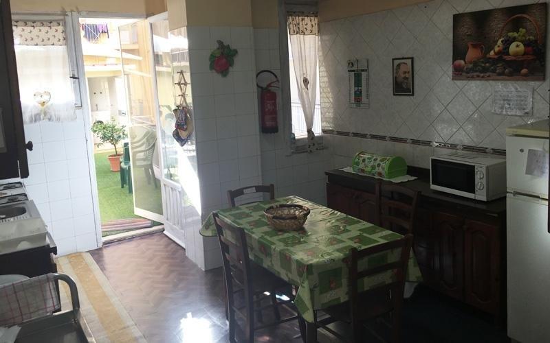 La cucina della casa di riposo Santa Rita