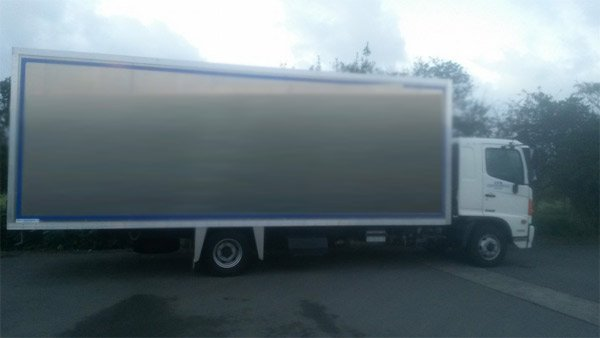 View of a transport vehicle for furniture moving