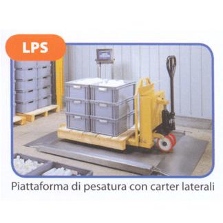 Piattaforma di pesatura con carter laterali