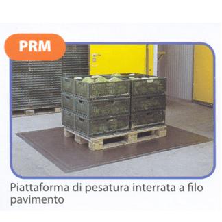 Piattaforma di pesatura interrata a filo pavimento