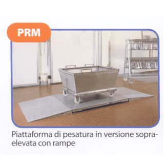 Piattaforma di pesatura in versione sopraelevata con rampe
