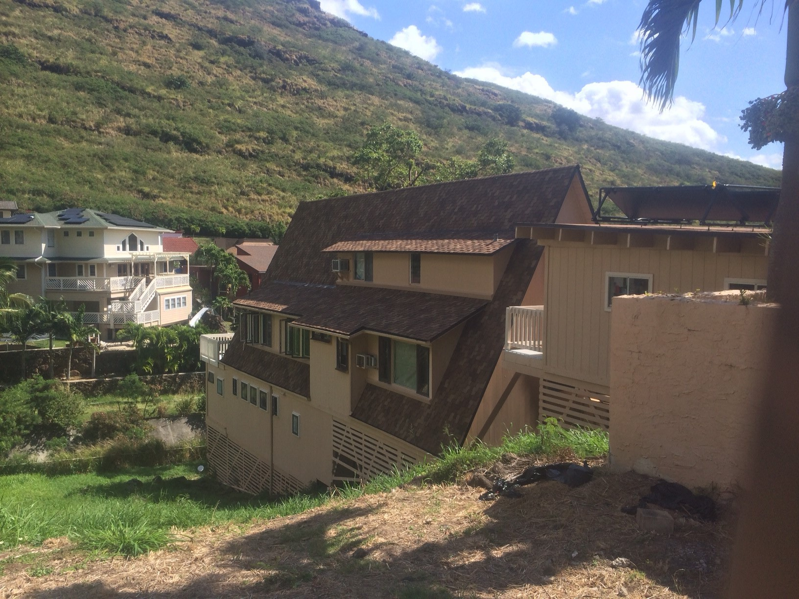 Home in Nuuanu in Honolulu with new shingle roofing