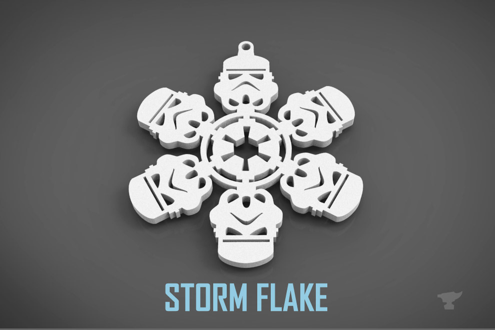 3D MODEL OF A STORM TROOPER CHRISTMAS DECORATION BY FORGE3D