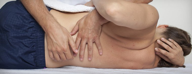 musculoskeletal treatment being carried out