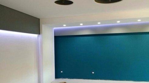 esempio di impianto di illuminazione a muro