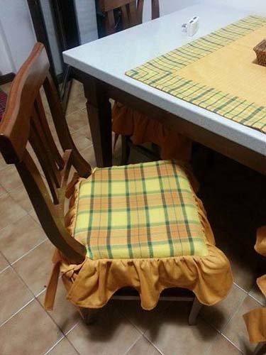 Cuscino per sedia in stile provenzale