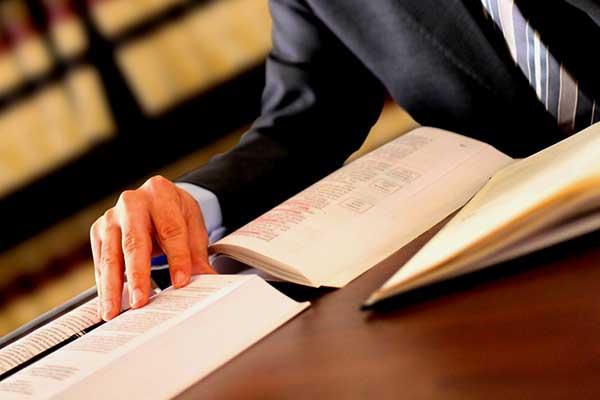 Avvocato studia testi legislativi a Palermo