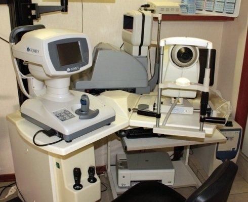 Il macchinario per esame della vista
