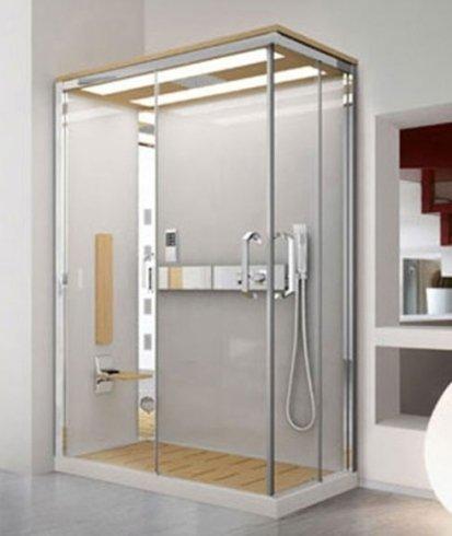 Box doccia con sauna