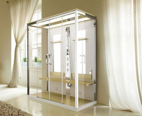 Box doccia con sauna e radio