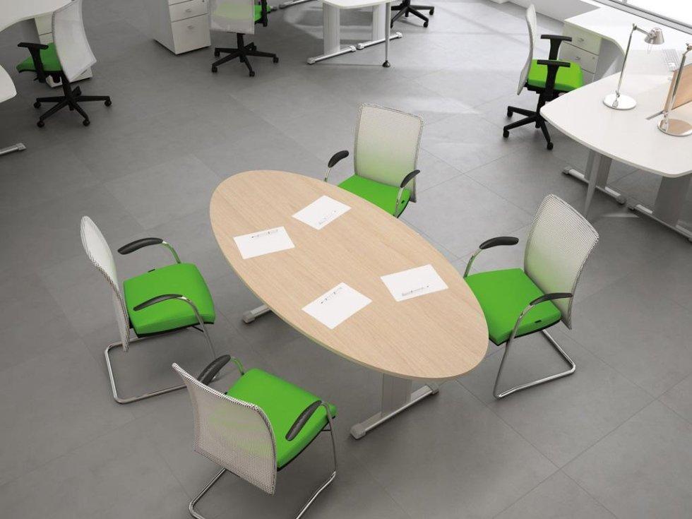 Tavolo riunione ovale oxi
