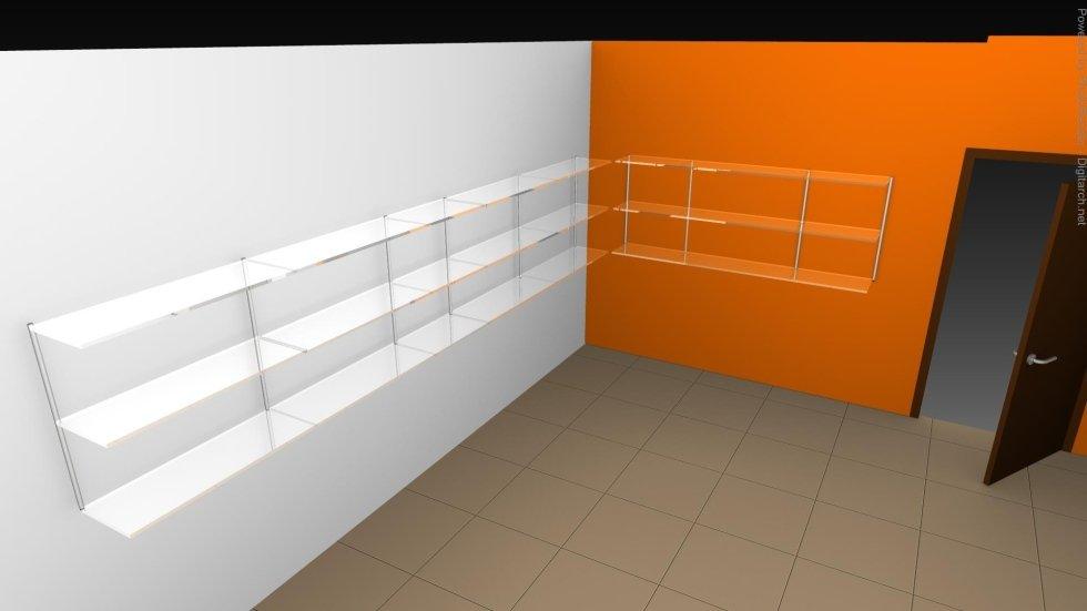 Scaffale a parete ALFA mobili per ufficio Novara