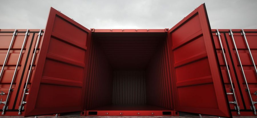 Open container offering storage solutions in Westport