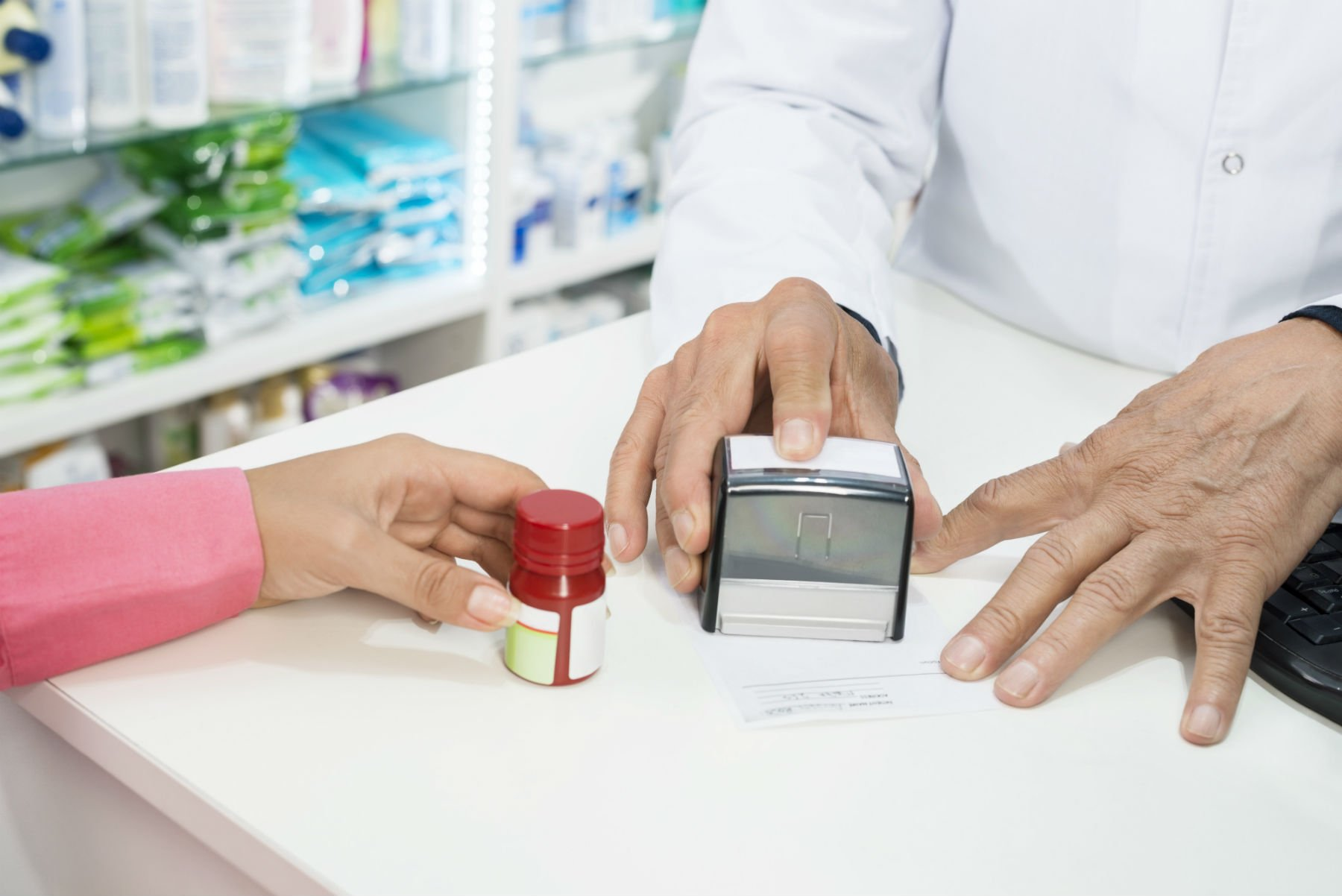 bancone vendita farmacia