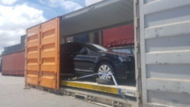 car transport in individually loaded container