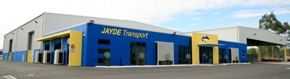 Outside our transport warehouse at Perth Airport