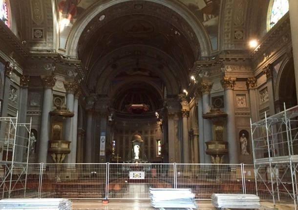 Restauro della Basilica di Gallarate