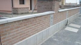 recinzioni di mattoni, muratori, muretti