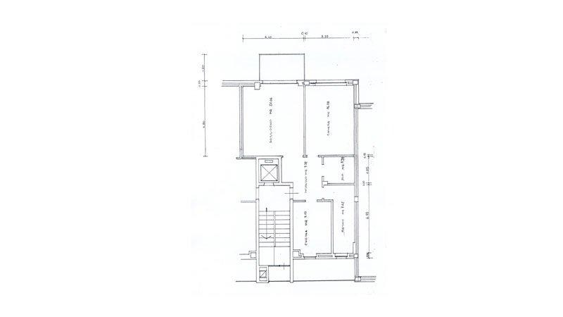 isure un disegno di una casa con i dettagli delle m