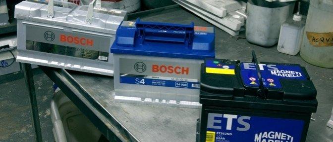 Batterie auto Bosch e Magneti Marelli