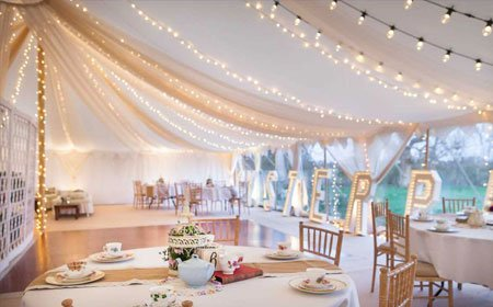 beautifully lit marquee
