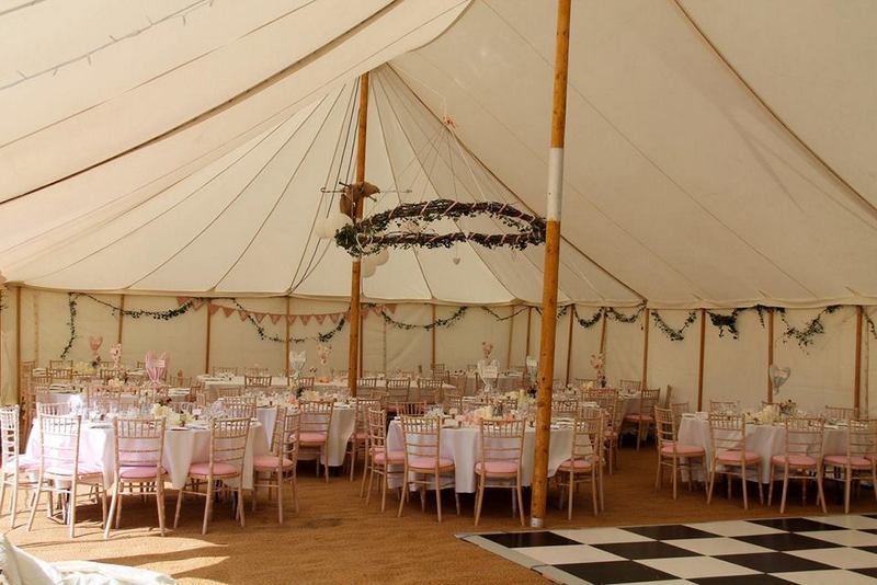 decorated tent