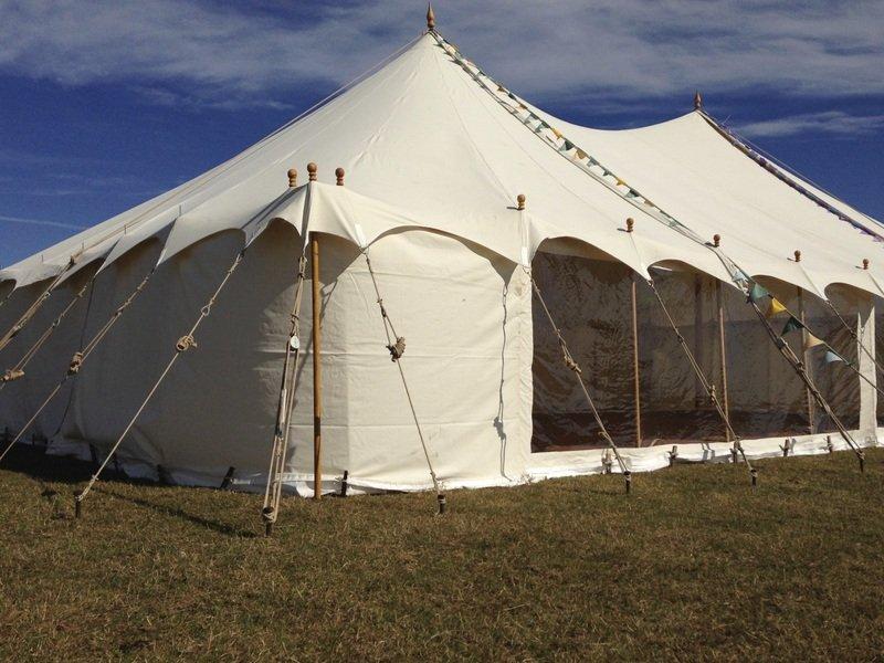 white coloured tent
