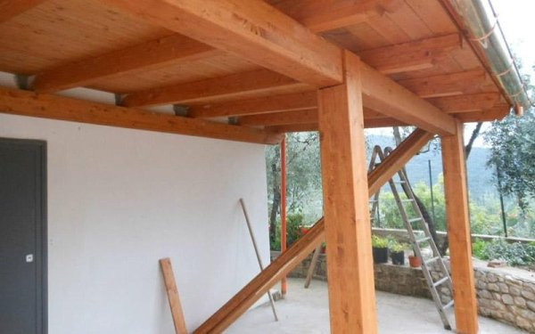 Progettazione porticati in legno