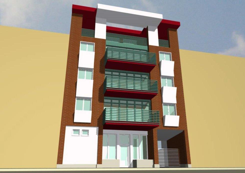 nuovi appartamenti - vista frontale