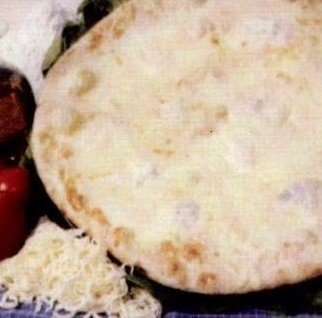 una pizza bianca