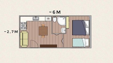 piantina di un modulo abitativo