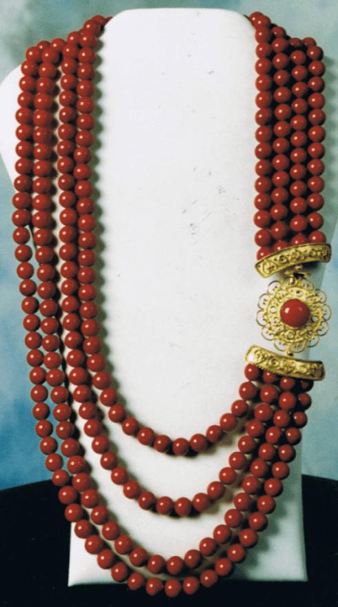 Collana in corallo rosso