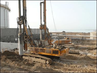 Realizzazione pali secant presso la Raffineria di Gela