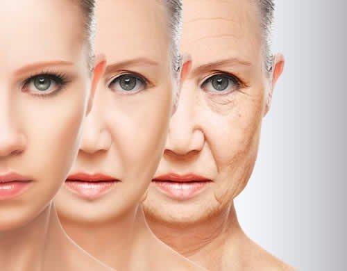 viso di donna prima e dopo trattamento antietà