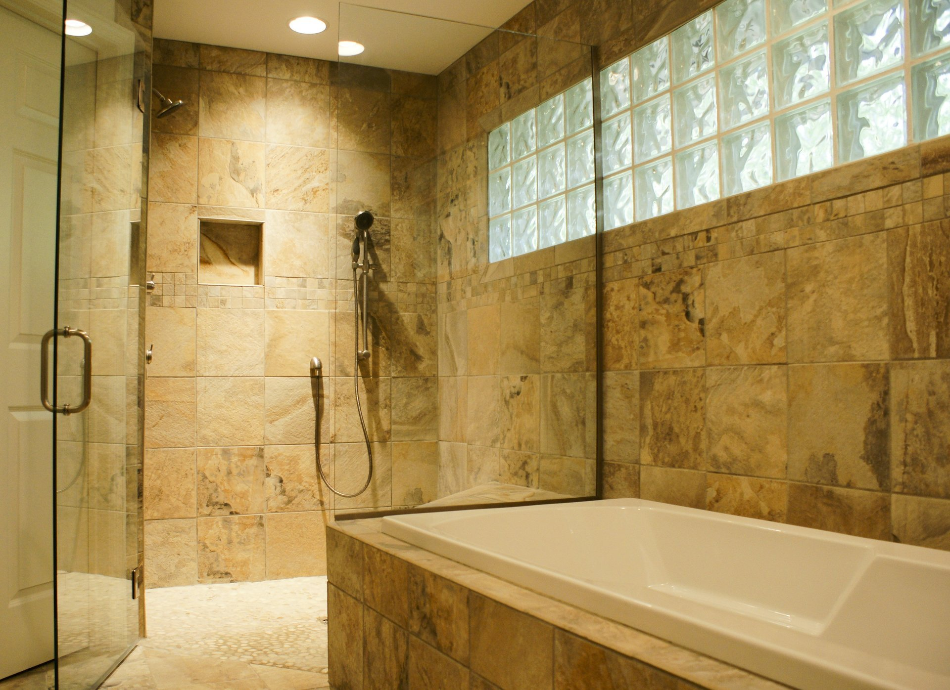 Another beautiful Aging in place shower and bath.