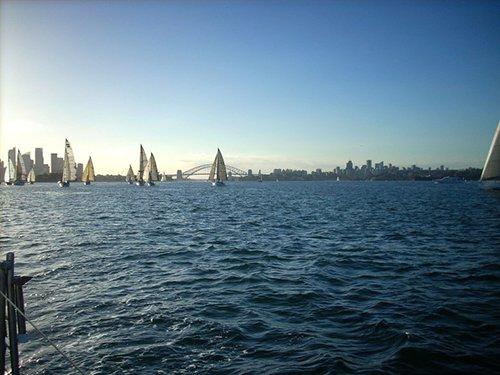 Group of people enjoying sailing