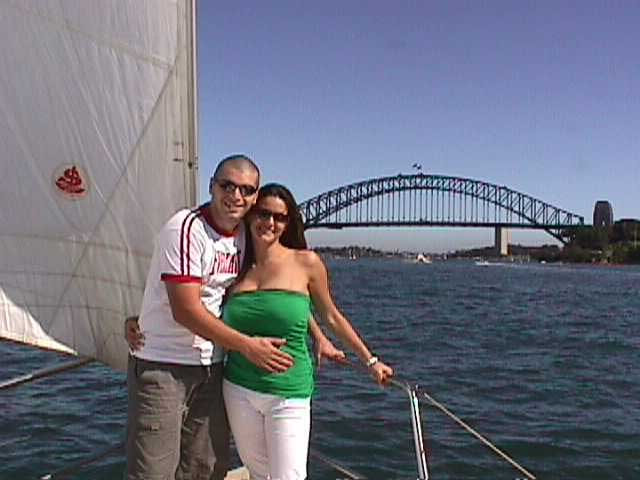 Happy couple on a cruise