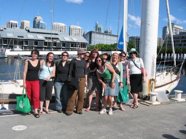Group of happy tourist