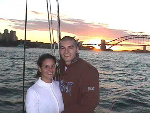 Couple on a romantic overnight journey