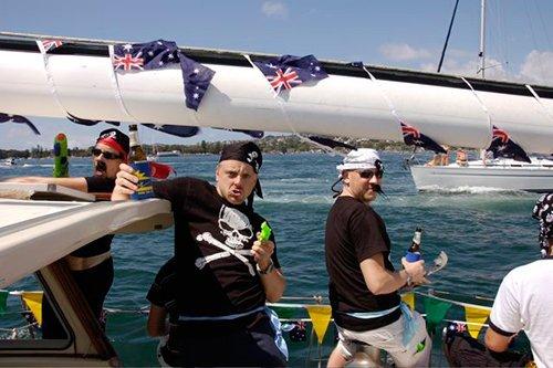 People enjoying surfing on Australia day