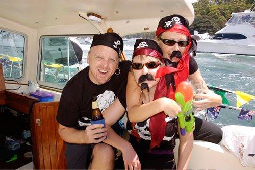 People enjoying sailing on Australia day