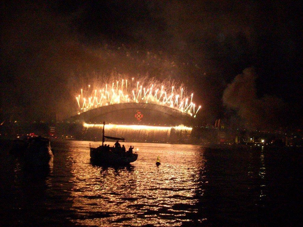 Celebration on  the Sydney bridge