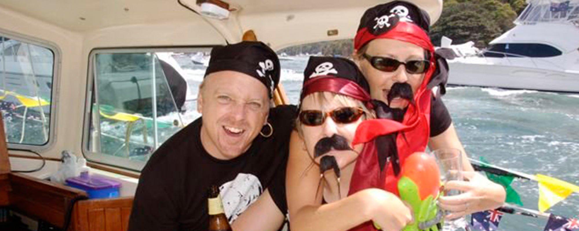 Group of friends enjoying on cruise